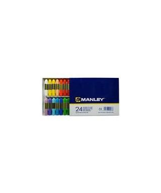 Ceras 24 colores surtidos- MANLEY - MNC00056