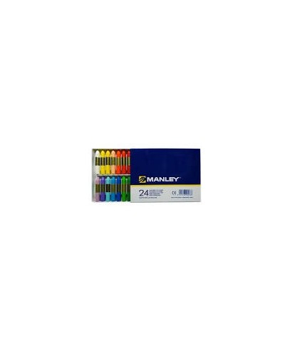 Ceras 24 colores surtidos- MANLEY - MNC00066