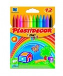 Ceras plastidecor colores surtidos 12 uds- BIC - 875770