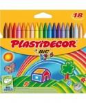 Ceras plastidecor colores surtidos 18 uds- BIC - 875771
