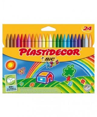 Ceras plastidecor colores surtidos 24 uds- BIC - 875772
