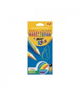 Lápiz madera colores surtidos Kids tropicolor- BIC - 832566