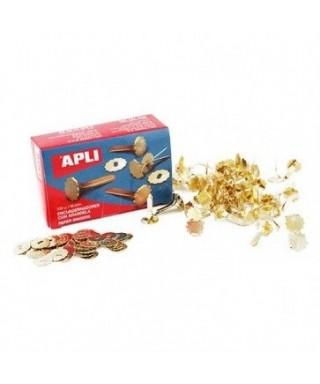 Encuadernador 18mm metálico con arandela- APLI - 12285