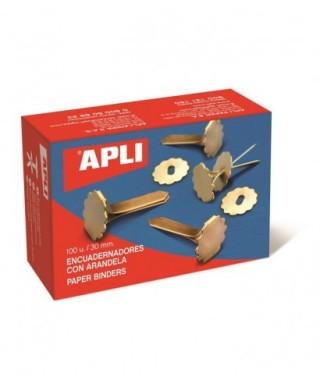 Encuadernador 30mm metálico con arandela- APLI - 12286