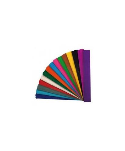 Rollo papel crespón o pinocho 35gr 0,50x2,5 m color plata metálico –