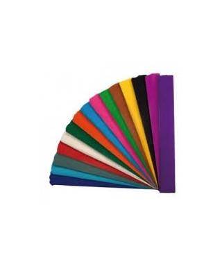 Rollo papel crespón o pinocho 35gr 0,50x2,5 m color rojo metálico – G