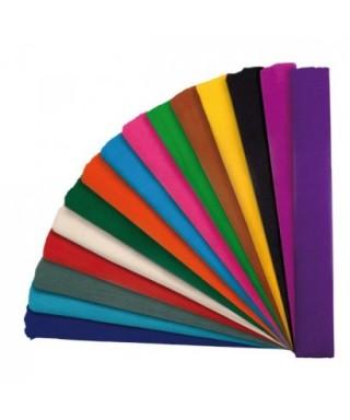 Rollo papel crespón o pinocho 35gr 0,50x2,5 m color turquesa – GRAFOP