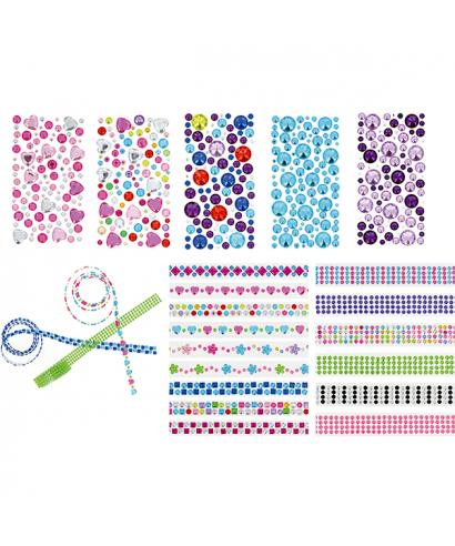 Rollo adhesivo rosa/blanco- GRAFOPLAS - 68070008