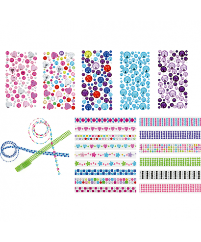 Rollo adhesivo círculos rosa/azul- GRAFOPLAS - 68070100