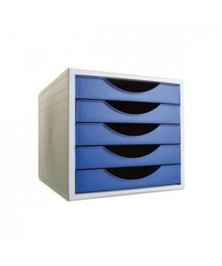 Módulo 5 cajones archivotec azul opaco- ARCHIVO 2000 - 4005 AZ