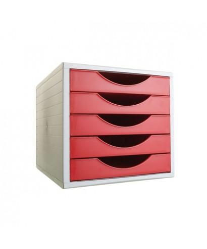 Módulo 5 cajones archivotec rojo- ARCHIVO 2000 - 4005 RJ