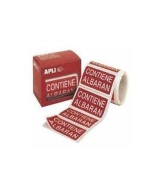 Rollo etiquetas adhesivas contiene albarán- APLI - .00295 / 00194001