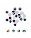 Ojos movibles adhesivos negros 18mm. pack 20 unidades – GRAFOPLAS - 6