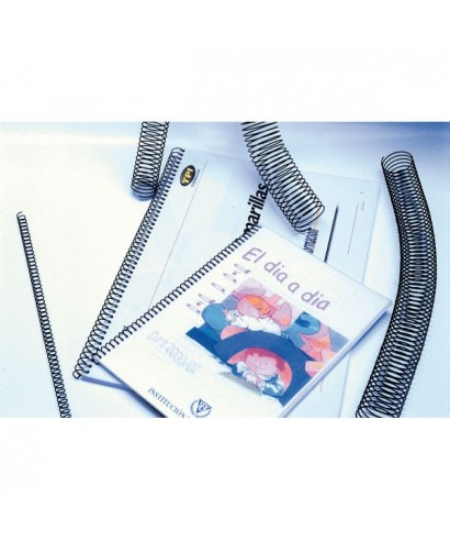 Espiral metálica 5:1 6mm negro- YOSAN -