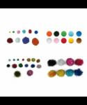 Pompones colores brillantes surtidos y tamaños pack 100 unidades – GR