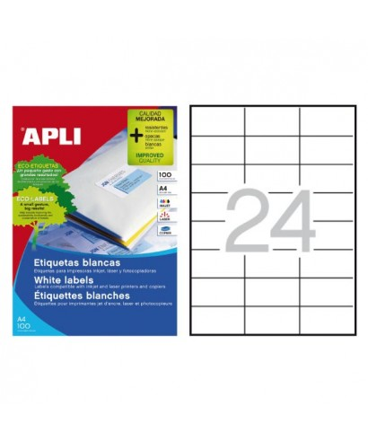 Etiqueta blanca 70x37mm - APLI - 1273