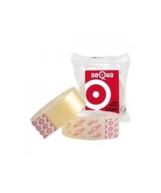 Rollo cinta adhesiva cristal 19x33- DEQUA - 77078400