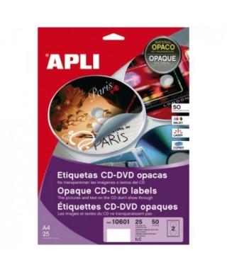 Etiquetas CD 117mm- APLI - 10601