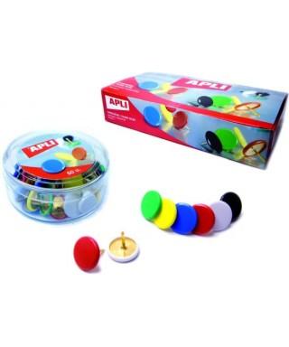 Chinchetas colores surtidos- APLI - 101148