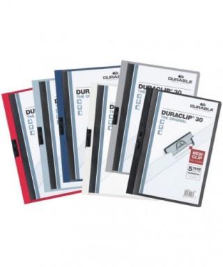 Dossier duraclip azul oscuro- CARLOS WENDEL - 2200 07