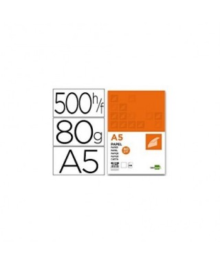 Papel 80 grs A-5 -