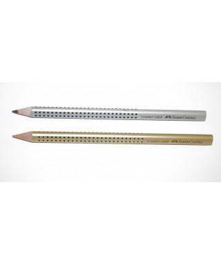 Lápiz triangular Jumbo plata- FABER - 110981