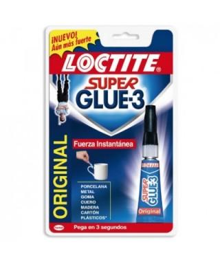 Tubo 3gr pegamento súper glue 3 original- LOCTITE - 608063