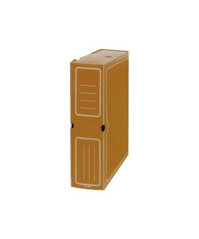 Archivo definitivo plástico folio marrón
