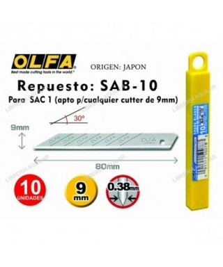 Blister de 5 cuchillas 18 mm - OLFA -