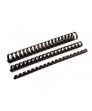Canutillo plástico 8mm negro- FELLOWES