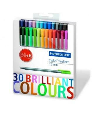 Brilliant colours. 24+6.STAEDTLER