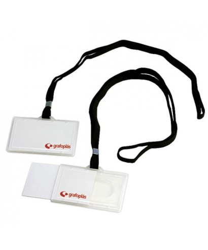 Portadistintivo inyectado mas cordón negro – GRAFOPLAS - 9073000