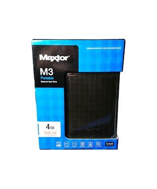 Disco duro Externo  - Maxtor 2,5 4 TB M3 Negro - HD2289610