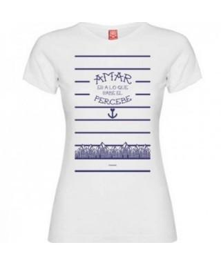 Camiseta percebe blanco mujer M - RZ -