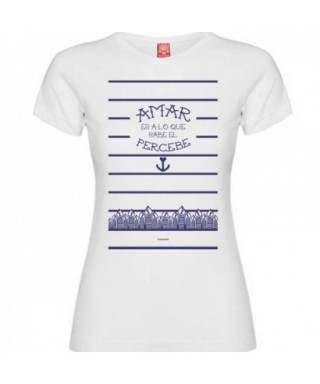 Camiseta percebe blanco mujer L - RZ -