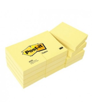 Pack 12 tacos post-it 38x51- 3M - 653