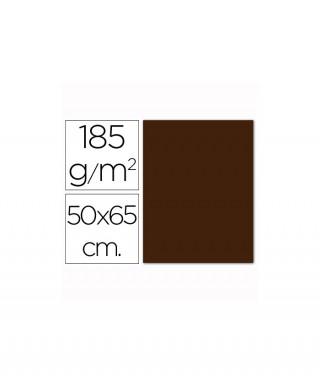 Cartulina marrón chocolate 50x65 grafopl