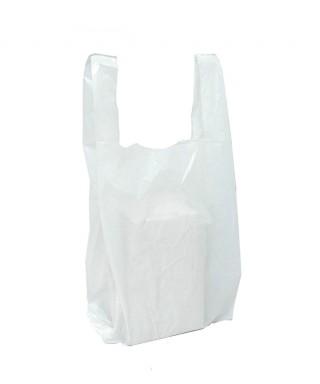 Bolsas plasticas camiseta blanca 35x40