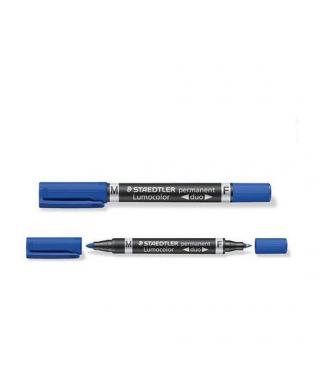 Marcador lumocolor duo azul