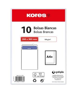 paquete 10 bolsas blancas KORES