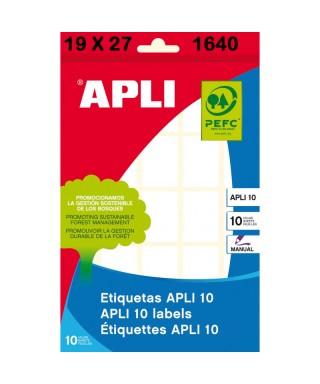 S/etiquetas adhesivas blancas 19x27 Apli