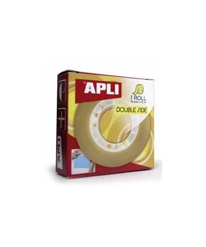 Cinta adhesiva doble cara 15mmx10m- APLI