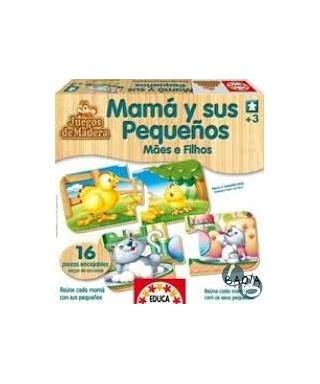 Mamá y sus pequeños - Juegos de madera