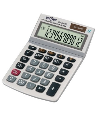 Calculadora 12 dígitos Dequa 2633RP