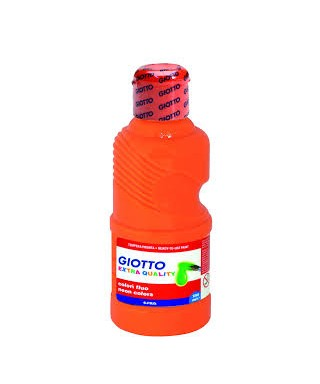 Bote tempera liquida naranja fluor 250ml