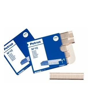 Caja 1000 grapas 10 galvanizadas- NOVUS - 040-0003