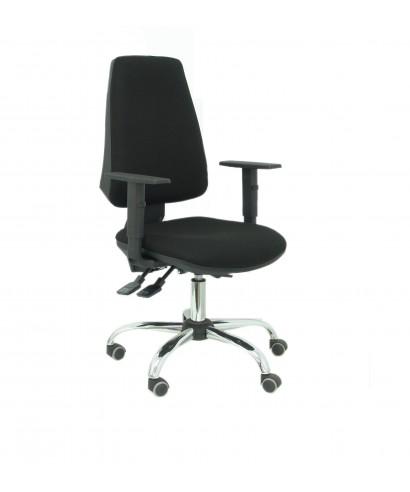Silla de oficina ergonómica tapizado en color negro, con mecanismo ...