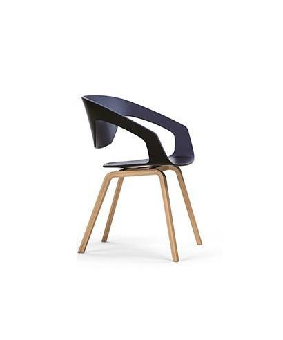 Liner 4und silla 4p braz plas azul haya for Silla oficina madera