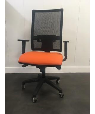 Silla giratoria Passion Negro/naranja