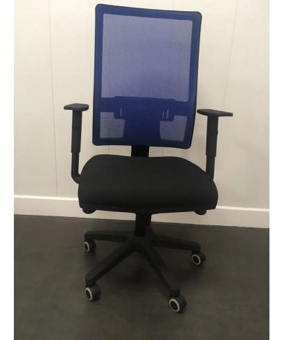 Silla giratoria Passion Azul/negro